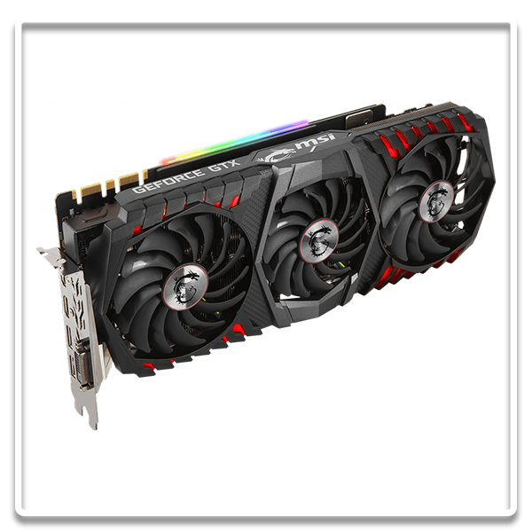 Test de la carte graphique Geforce GTX 1080 Ti Gaming X Trio de MSi